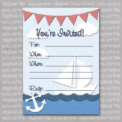 nautical baby shower invitations templates theruntime