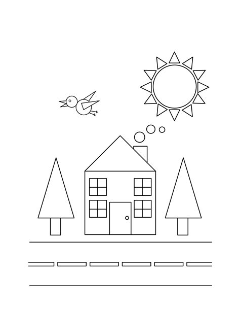 coloring coloring page objects to color by following the color numbers and free printable shapes coloring pages for