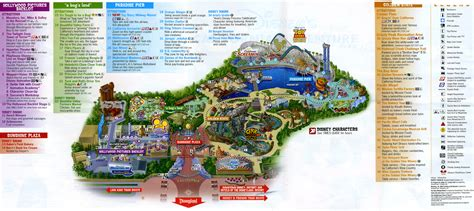 california adventure map pdf theme park brochures disney s california adventure theme