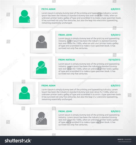Website Comments Template Vector Design Discussion Web Elements Color Gray Silver White Discussion Web Template