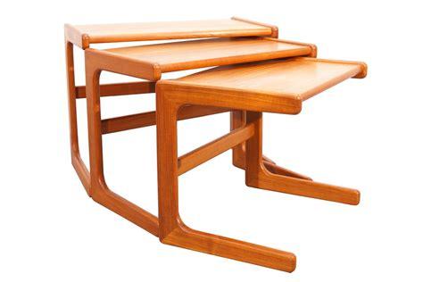 mid century modern nesting tables mid century modern scandinavian teak nesting tables for