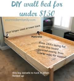 Murphy Bed Diy Diy Wall Bed For 150