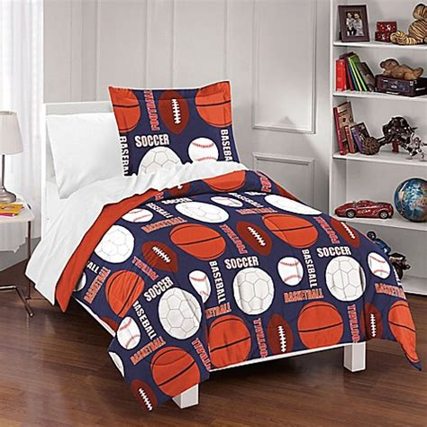 dream factory all sports reversible comforter set bed