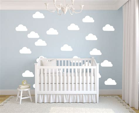 baby room wall murals aliexpress buy 50pcs set white clouds wall stickers removable diy vinyl baby wall