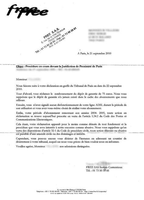 Generateur De Lettre Free R 233 Cup 233 Rer Sa Caution De 75 Euros Free Cit 233 Fibre Fait La Sourde Oreille