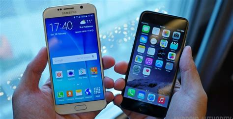 samsung galaxy s6 vs iphone 6 look
