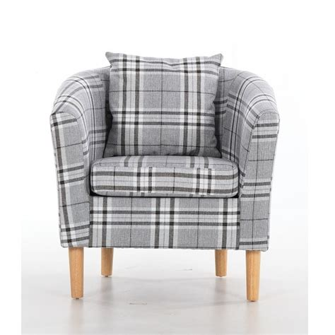 tartan armchair fabric tub chairs deluxe tartan fabric tub chair armchair