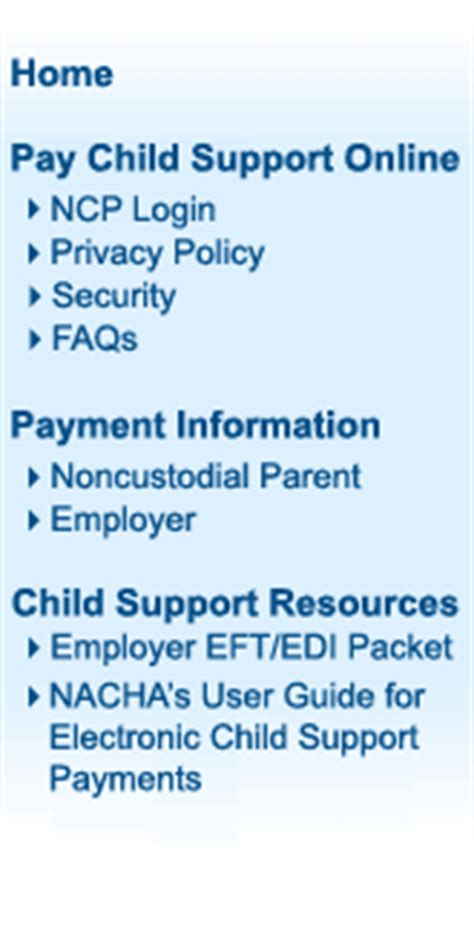 Tn Child Support Office by Tennessee Child Support Payment Website