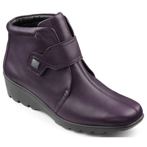 Detox Kits Uk Boots by Hotter Womens Tamara Plum Leather Wide Ankle Boots
