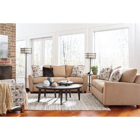sle living rooms la z boy amy casual supreme comfort queen sleeper sofa