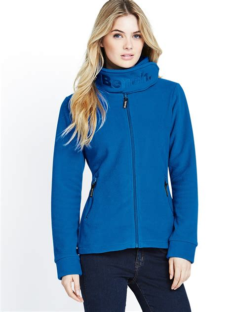 bench fleece bench funnel neck fleece in blue lyst