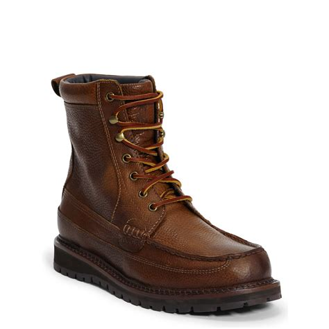 brown polo boots polo ralph willingcott leather boot in brown for