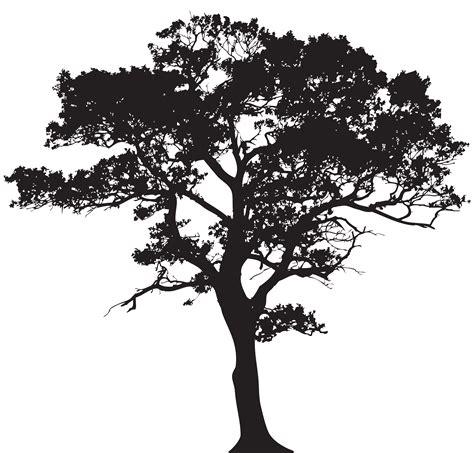 Silhouette Trees Clip