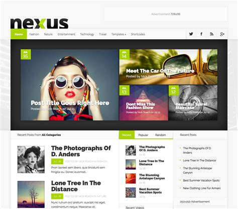 Best Word Press Templates nexus magazine theme wpexplorer