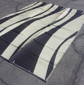 9x12 Outdoor Rug Rv Patio Awning Mat Reversible Outdoor Rug 9x12 Brown Wave 9x12bw Ebay