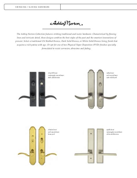 color chart truth hardware products biltbest window parts door hardware finishes glynn johnson door controls