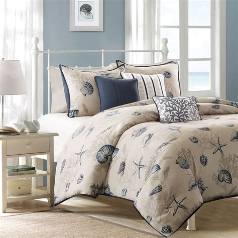 seashell bed beach themed bedding home decorator shop