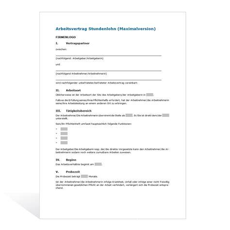 Brief In Schweiz Dauer Muster Arbeitsvertrag Stundenlohn
