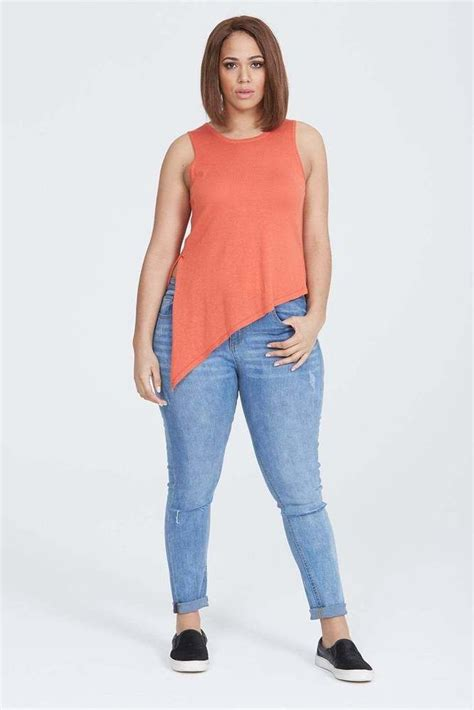Elvi Plus V Neck Jumper 1000 images about womens clothing on s