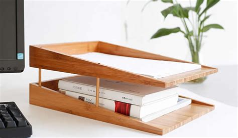 bamboo desk organizer bamboo multi tier desk organizer tray letter file holder