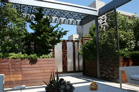 pergola sun shade made chicago custom pergola steel screen sun shade by