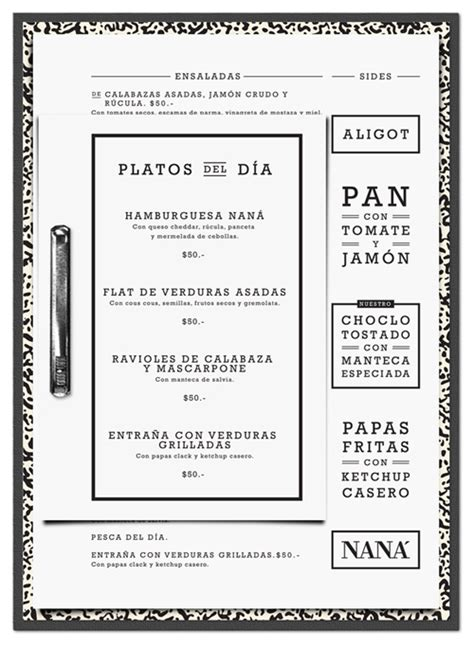 design menu horizontal menu for nan 225 restaurant design by horizontal type