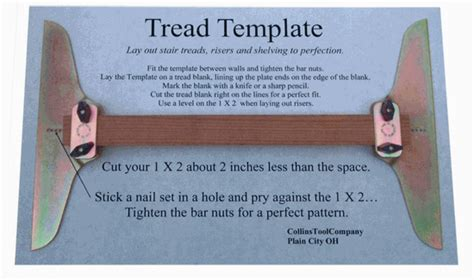 stair tread template tool collins tool company stair tread template set tools