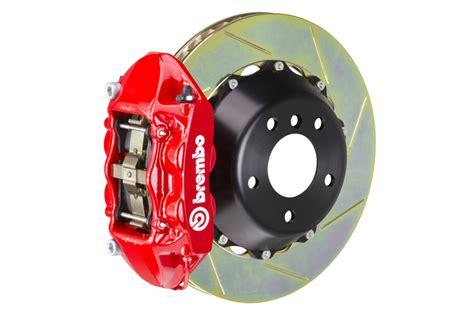 brakes biggest fan pt 2 brembo gran turismo 4 piston rear brake kit red slotted