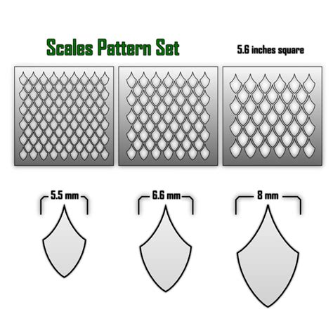 pattern brush scale scale pattern airbrush stencils death ray designs