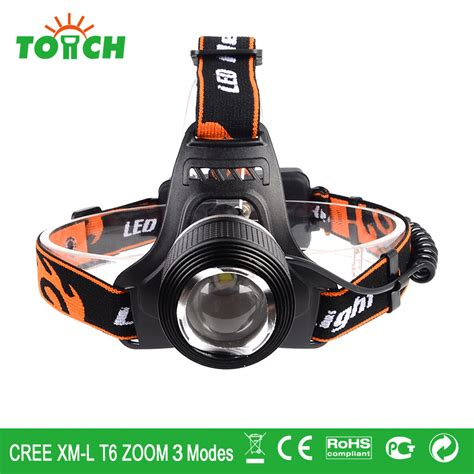 Waterproof Headl Led Cree aliexpress buy waterproof cree xm l t6 led l 3800lm zoomable headlights 18650