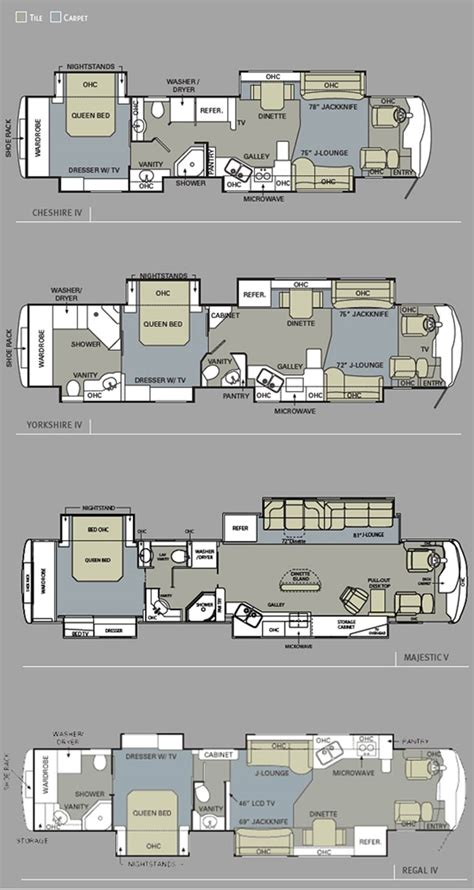luxury rv floor plans 2010 monaco dynasty luxury motorhome floorplans large