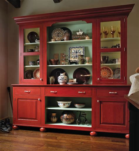 Brookhaven Kitchen Cabinets by European Country Hutch Wood Mode Fine Custom Cabinetry