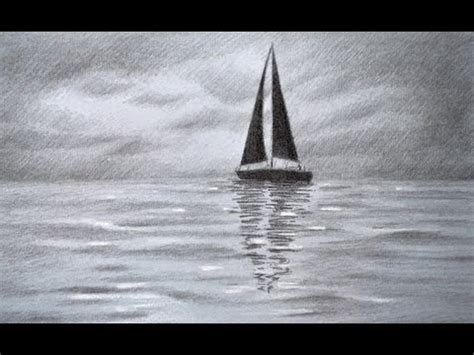 boat drawing sea how to draw a sailing boat how to draw a sea how to
