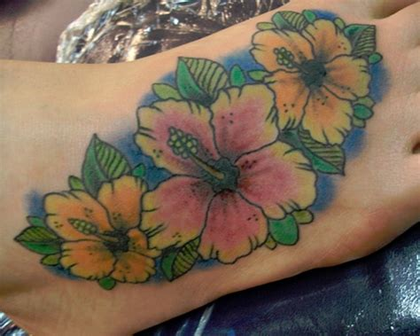 35 overwhelming hawaiian flower tattoos creativefan