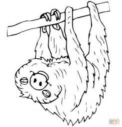 Sloth Coloring Pages two toed sloth coloring page free printable coloring pages