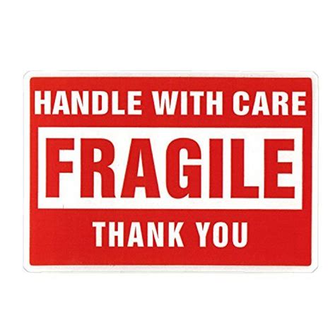 Stiker Fragile Berkualitas 1 fragile handle with care stickers kamos sticker