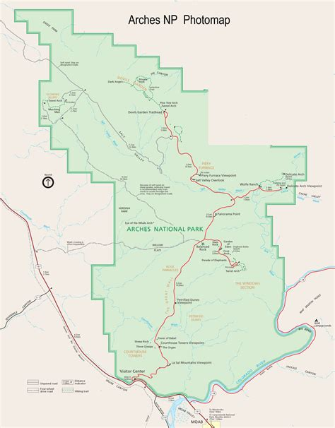arches national park map arches national park map