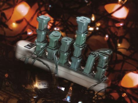 holiday fire safety power strip overloaded holiday