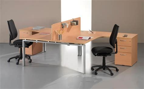 Two Person Corner Desk 2 Person Corner Desk Bush 300 Series 13 2 Person Corner Workstation In Modern Cherry Modern