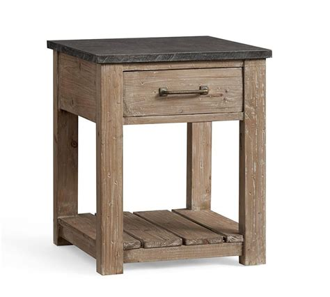 side table reclaimed wood side table pottery barn au