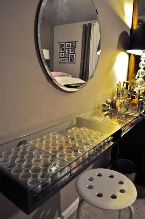 diy makeup vanity table diy the most amazing clean well organized make up table