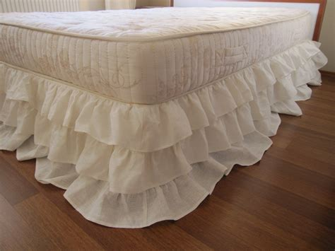 bed ruffles queen or king linen 3 tier ruffle bed skirt dust ruffle