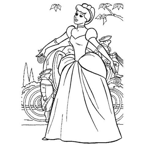 carrozza principesse disegno di cenerentola e la carrozza da colorare per