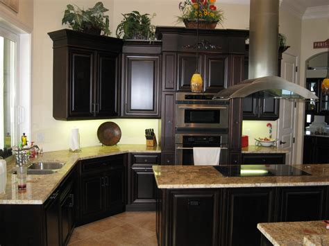 dark cherry kitchen cabinets distressed black kitchen cabinets painted black kitchen