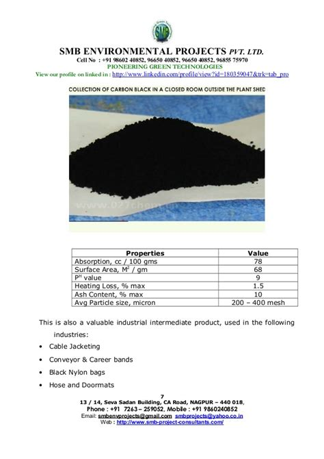 Cal 95 Per Isi 6 Tab scrap tyres to production a project profile by smb
