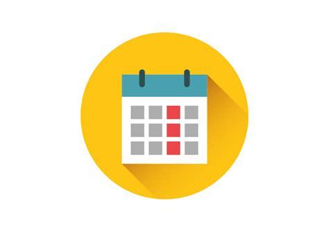 Calendar Icon Vector Calendar Flat Vector Icon