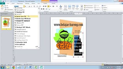 cara membuat flyers cara membuat leaflet di microsoft publisher 2010 youtube