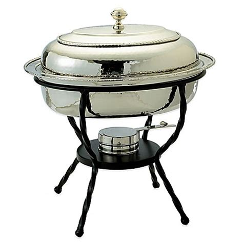 chafing dish bed bath and beyond old dutch international 6 qt oval chafing dish in polished nickel