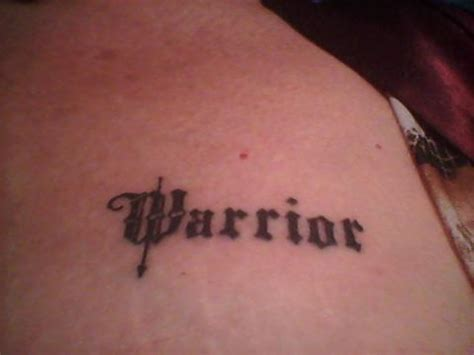 warrior word tattoo warrior journey of