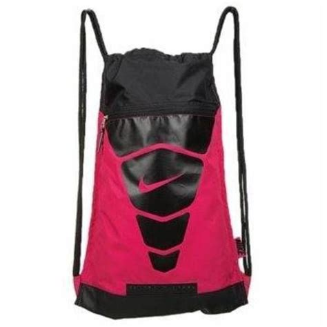 nike vapor sack back pack sports book bag pink black